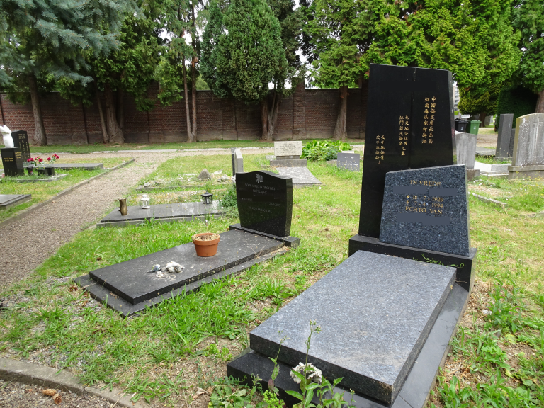 Graves in Multiple Languages at Cemetery Tongerseweg, Maastricht, the Netherlands