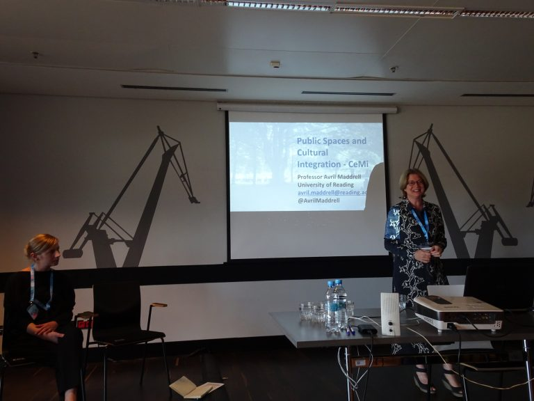 Avril Maddrell at Gdansk HERA conference, Poland