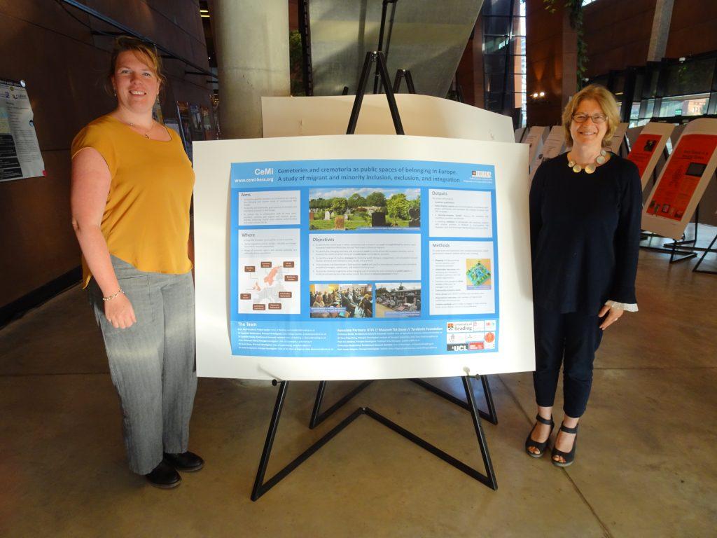 Avril Maddrell and Mariske Westendorp poster presentation at Gdansk HERA conference, Poland
