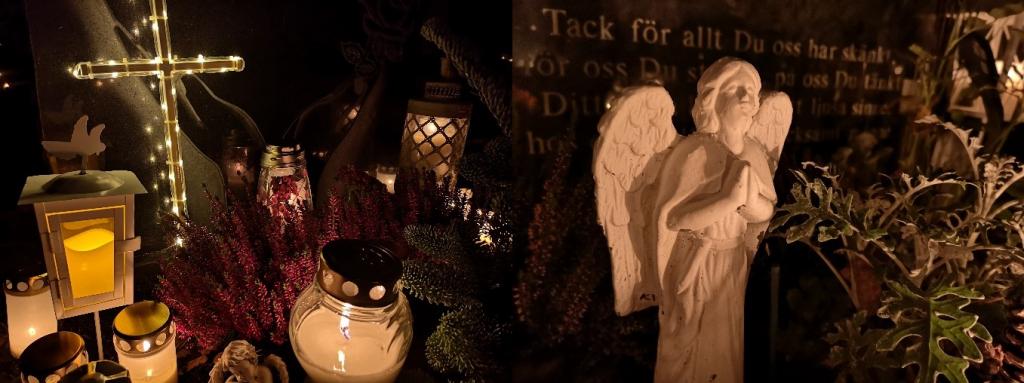 Sankt Eskils Kyrkogård cemetery Eskilstuna Sweden Angel Cross Gravestone Tombstone