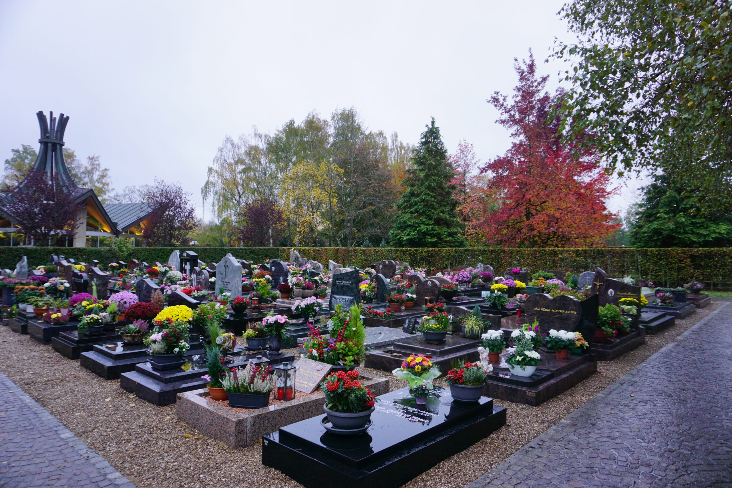 Graves Cemetery Merl-Belair Luxembourg