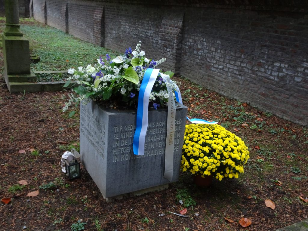Holocaust memorial at cemetery Tongerseweg in Maastricht, the Netherlands